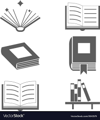 Reading Books Signs And Symbols Icons Template On