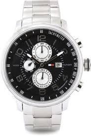 tripleclicks com tommy hilfiger tyler analog watch for men silver tommy hilfiger tyler analog watch for men silver