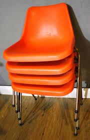 orange plastic chair. Vintage Orange SHAMROCK NEATWAY Molded By LuckySevenVintage, $195.00. ChairsPlastic Plastic Chair D
