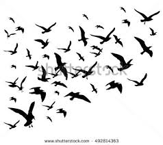 birds flying in the sky silhouette. Exellent Birds Flying Birds Flock Vector Illustration Isolated On White Background  Silhouette Of Black Pigeon Hawk And In Birds The Sky Vecteezy