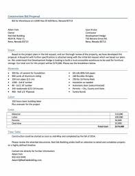Contractor Proposal Template Bid Free Download Construction