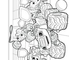Blaze Coloring Sheets Blaze The Monster Truck Coloring Pages As Well