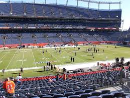 Sports Authority Field Mile High Stadium Seating Chart Denver Broncos Field Level Between Goal Lines
