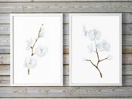 like this item  on white orchid framed wall art with orchid art white orchid watercolor print orchids