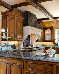 French Style Kitchen Furniture Decoration French Country Kitchen With Design Beige Wall Wood