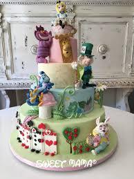 Mad Hatter Cake Designs Alice In Wonderland Themed Christening Cake Torta A Tema