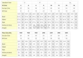 Bridal Size Chart Wedding Dresses Size Chart Wedding Dress