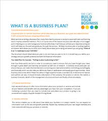 small business plans examples small business plan template 16 free sample example format