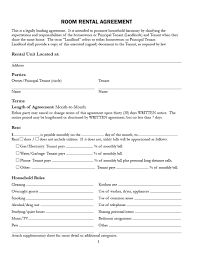 Been done with the consent and agreement of both parties prior to the signing of the agreement. 39 Simple Room Rental Agreement Templates Templatearchive