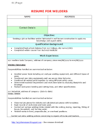 Sample Welder Resume Resumess Memberpro Co Rebar Ironworker