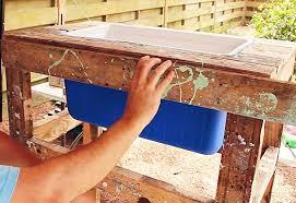 easy pallet project ideas diy outdoor furniture tutorials diy rustic cooler box diy