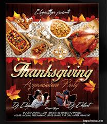 thanksgiving party flyer 30 best free party club flyer psd mockups web net