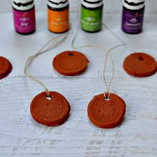aromatherapy clay necklaces