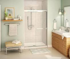 maax frameless shower door zoom maax dual 565 in to 59 in frameless chrome sliding shower