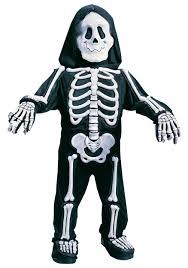 child s white skeleton costume