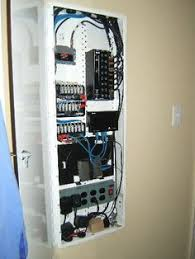 wiring panel for structured wiring home automation network whole house structured wiring networking set ups cabinets panels picture