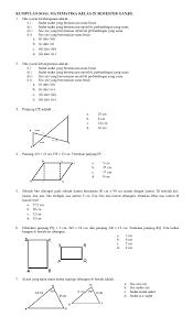 Kami sertakan kunci kuadrat agar siswa dapat mencocokkan jawabannya. Pdf Kumpulan Soal Matematika Kelas Ix Semester Ganjil Desty Safar Academia Edu