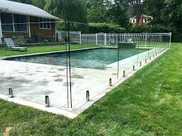 glass fence around pool semi frameless fencing cost per metre