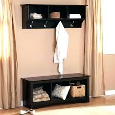 entry hall bench with coat rack incredible way white storage entryway large tree pertaining to 9