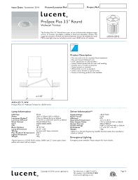 E2 Lighting Inc Prospex Plus 3 5 Round Lucent Lighting Manualzz Com