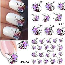 1sheets Hot DIY Designs Pretty Flower Water Stickers Nail Art ...