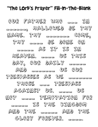 Fancy Design The Lord S Prayer Coloring Pages Kid Packet Kellerumc