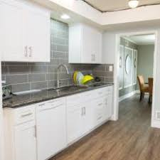 white galley kitchens. Gray And White Galley Kitchen With Vinyl Floors White Galley Kitchens E