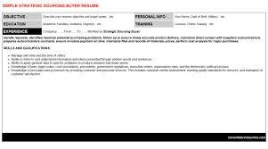 Strategic Sourcing Buyer Resume Cover Letter Cv Letters