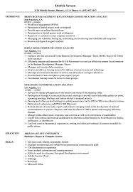 Communication Analyst Resume Samples Velvet Jobs