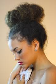 Top Knot Hair Style create a messy natural topknot by pulling a kinky straight or 3965 by wearticles.com
