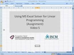 assignment model excel solver  assignment model excel solver