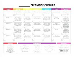 Household Chore List Template Weekly House Cleaning Schedule Thehack Co