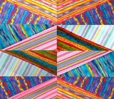 I'll never look at striped fabric the same again! Love this ... & 134 best images about Striped fabric quilts on Pinterest | Striped . Adamdwight.com