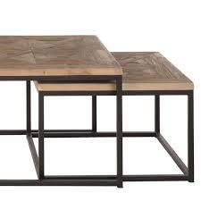 Table Basse Bois Metal Gigogne