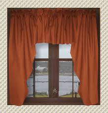 inspiration of rust colored curtains and solid rust colored swag window valance