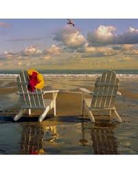Adirondack chairs on beach Wallpaper People Dont Miss This Deal