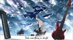 anime music wallpaper piano. Fine Piano Art Bob Biyonbiyon Hatsune Miku Vocaloid Girl Guitars Sky Clouds Light  Tools Synthesizer Piano Headphones HD Wallpaper For Computer Or Android Device Throughout Anime Music Wallpaper Piano I