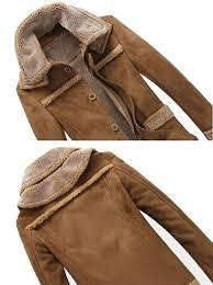 jk1162uk brown men s winter thick warm vintage faux fur coat parka er flight suede sheepskin