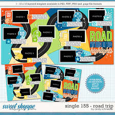 Road Trip Template Sweet Shoppe Designs Making Your Memories Sweeter