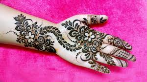 Mehndi Design Front Beautiful And Easy Mehndi Design For Front Hand Khaleeji Heena Design Arham Mehndi Designs