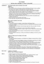 18 Resume Template For Restaurant Manager Lodelingcom