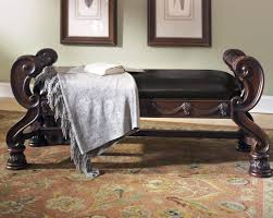 ashley furniture north s large bedroom bench in dark brown