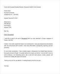 Cover Letter Examples Receptionist 10 Sample Job Application Letter For Receptionist Free Premium