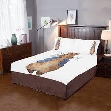 Peter Rabbit White Bed Set 3-Piece Bedding Set