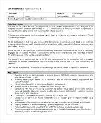 Architectural Project Manager Job Description Technical Architect ...