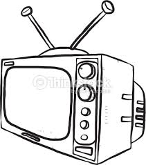 tv clipart black and white. tv or television : vector art tv clipart black and white