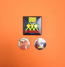 80s Pop Charts 3x 80s Bros Matt Luke Goss Craig Logan Pin Back Badge 80s
