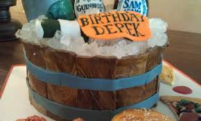 Beer Themed Birthday Cake Wooden Bucket Tried To Make The Flickr