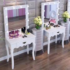 elegant makeup table. Modern Elegant Vanity Makeup Mirror Stool Drawer Wood Dressing Table Light Bulbs O