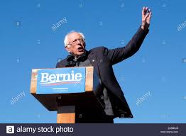 October 19, 2019, Queens, New York, United States: Bernie Sanders speaks at  a campaign rally in Queens, New York. (Credit Image: © Preston Ehrler/SOPA  Images via ZUMA Wire Stock Photo - Alamy